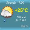 Прогноз погоды по г. Лесной, Свердловской обл.