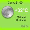 Прогноз погоды в Саках